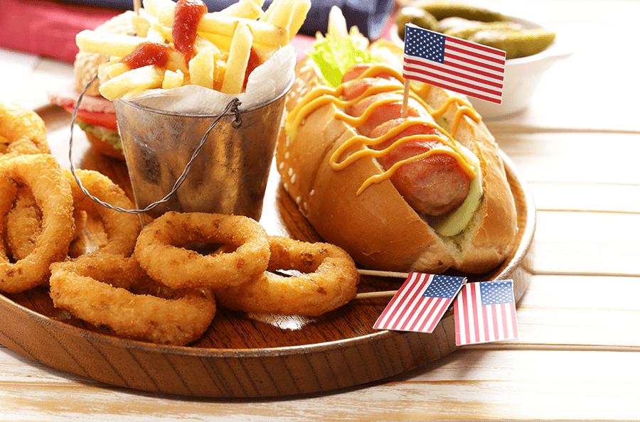 tradycyjny amerykański hot dog