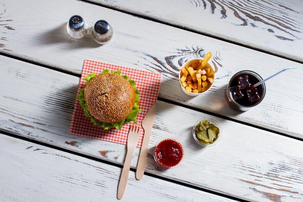 kącik gastronomiczny burgery