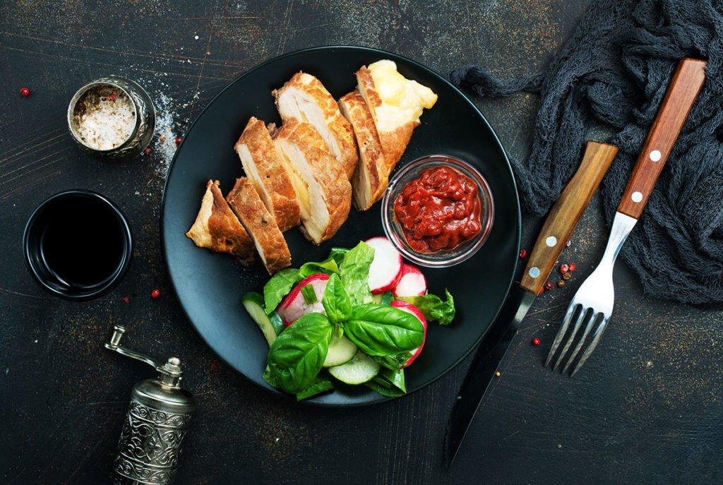potrawa restauracyjna przygotowana w piecu